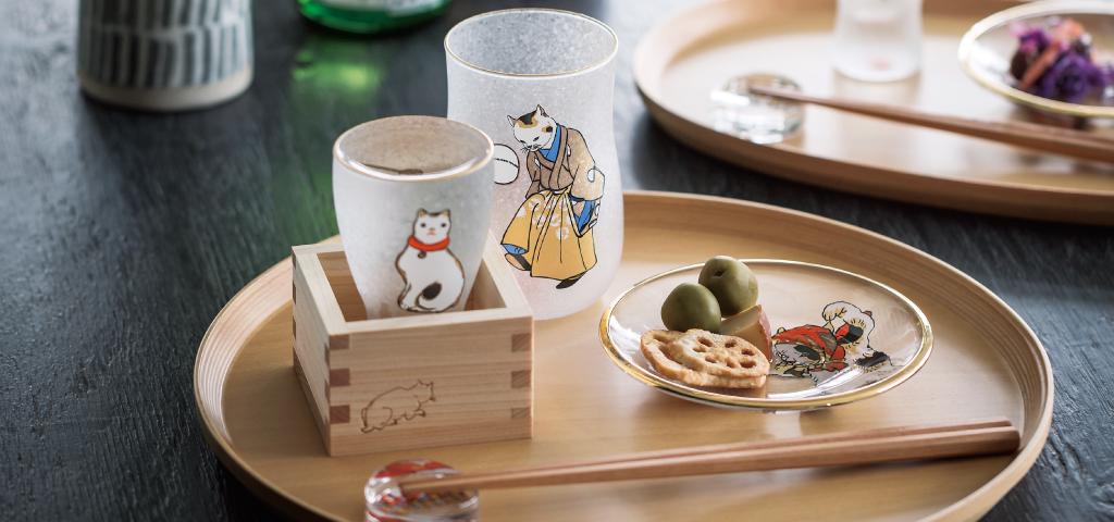 江戸猫|The Premium Nippon Taste|日本製|カラス食器ブランド ADERIA|アデリア