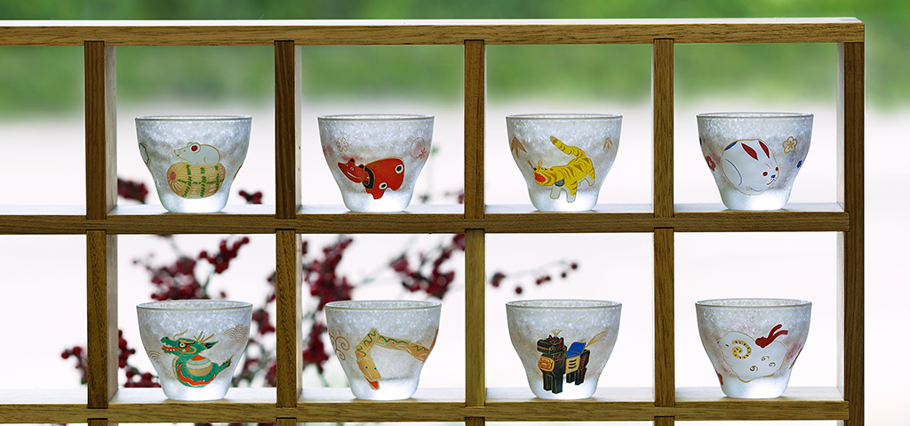 めでた干支|日本製|カラス食器ブランド ADERIA|アデリア