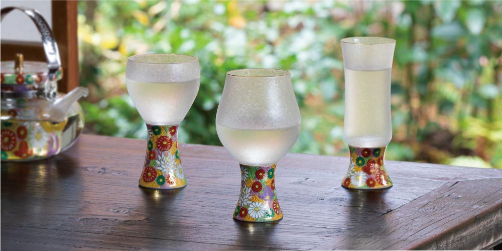 みぞれ九谷|The Premium Nippon Taste |日本製|ガラス食器ブランド ADERIA|アデリア