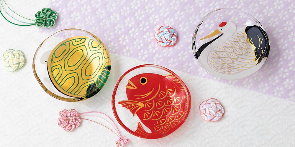 めでたmono 福寿|日本製|ガラス食器ブランド ADERIA|アデリア