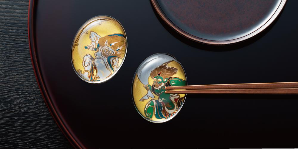 The Premium Nippon Taste 風神雷神図うつし|日本製|ガラス食器ブランド ADERIA|アデリア