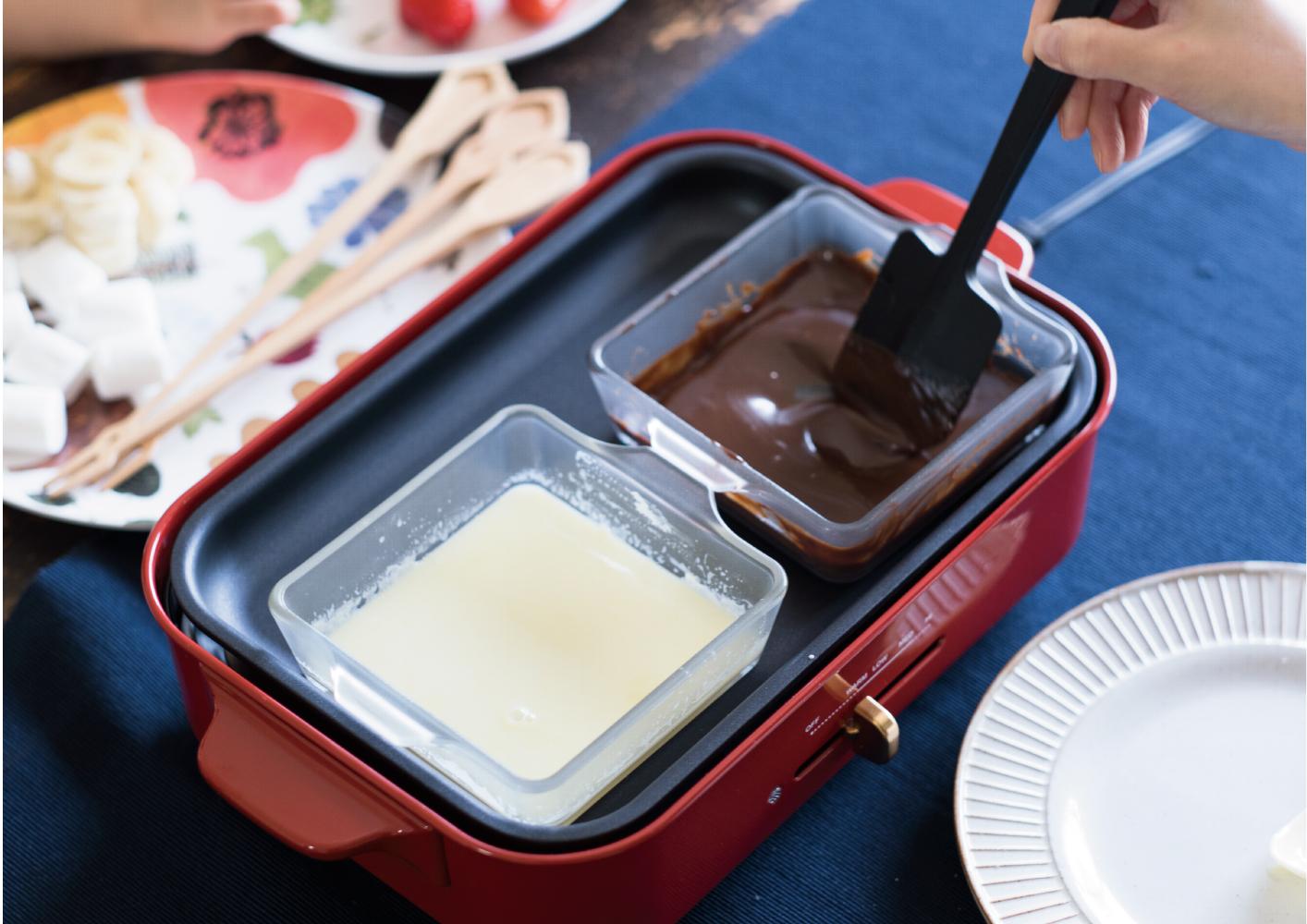 ホットプレートで簡単!楽しくチョコフォンデュを作ろう♫
