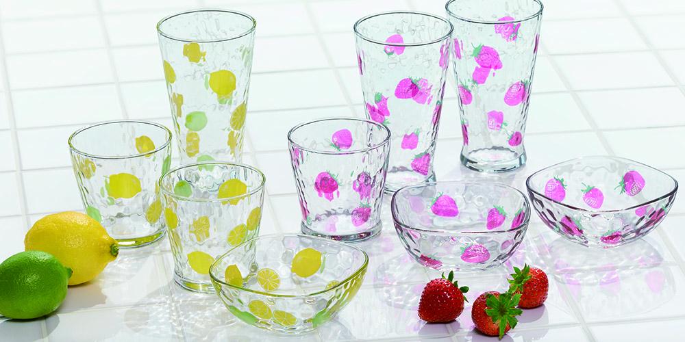 フルーツドロップ|日本製|ガラス食器ブランド ADERIA|アデリア