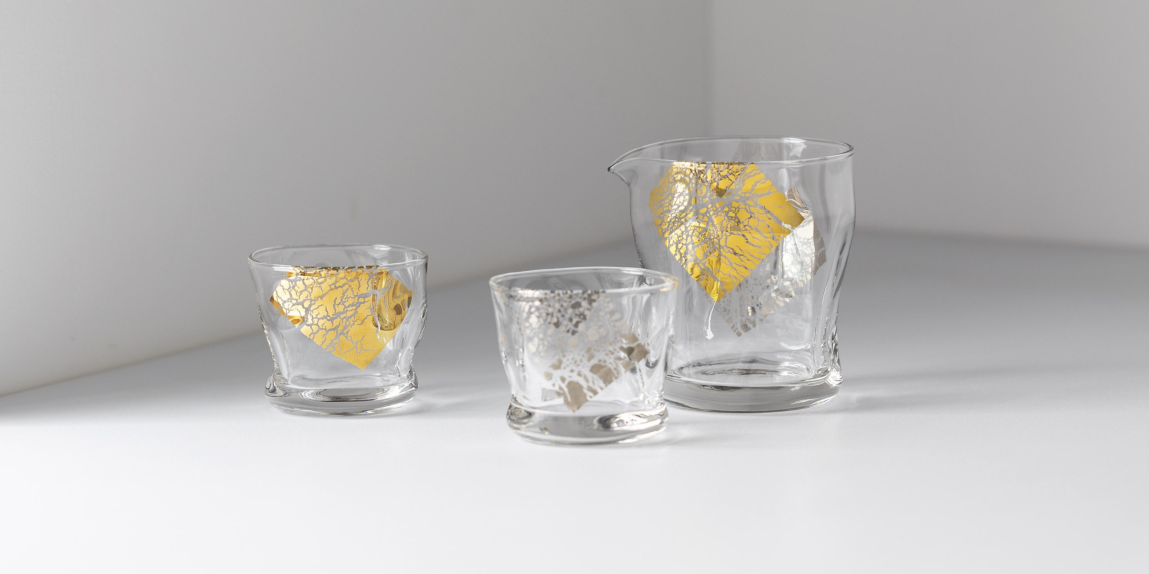 てびねりフルード金羅凛、クラフトサケ金羅璃|日本製|ガラス食器ブランド ADERIA|アデリア